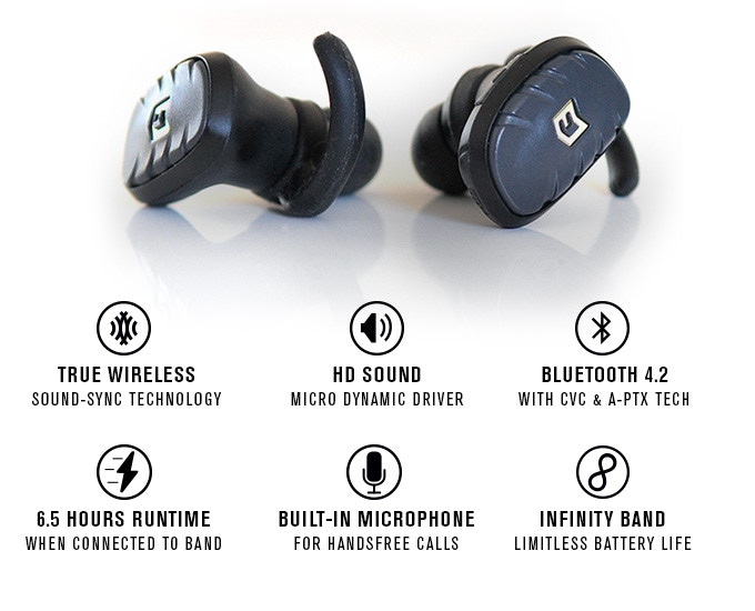 632bf5db3da Thanks to our backers, EVERYONE can choose between the FIT True Wireless  earbuds in classic black or the our matte white color.