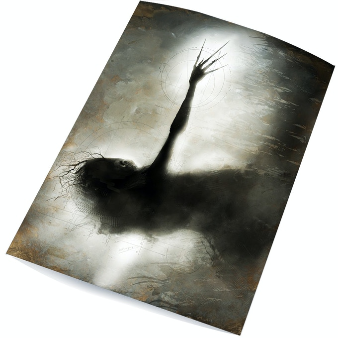 "Signed and numbered 6""x10"" art print ""Wendigo"" by award-winning fine artist menton3!"