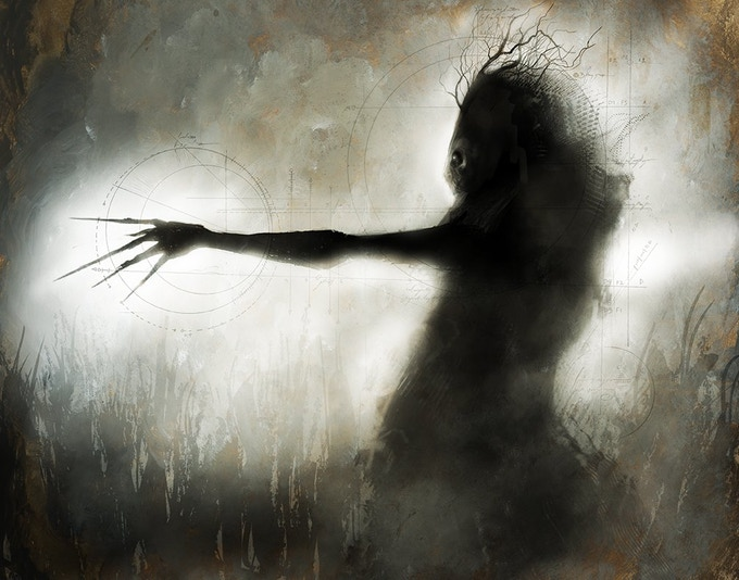 """""""Windigo"""" by award winning fine artist menton3! Get this beautifully haunting piece as a limited signed and numbered art print!"""