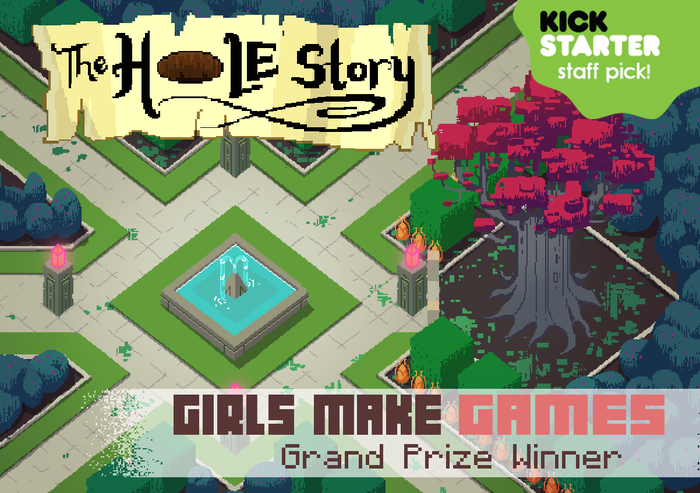 A girl aided by her trusty shovel embarks on a riddling quest to find a missing princess. GMG 2014 Grand Prize Winner!