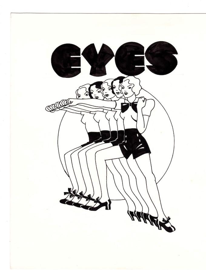"""eyes 2 10"""" x 11.25"""""""