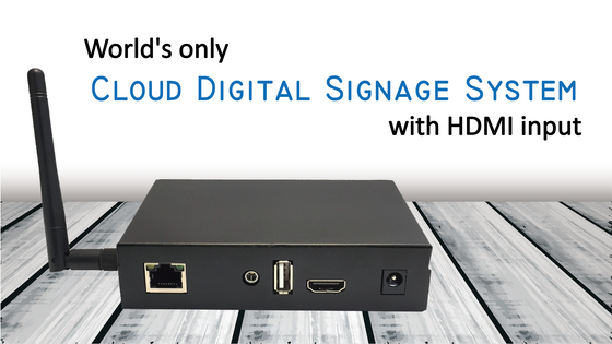 Track World's Only Cloud Digital Signage System with HDMI