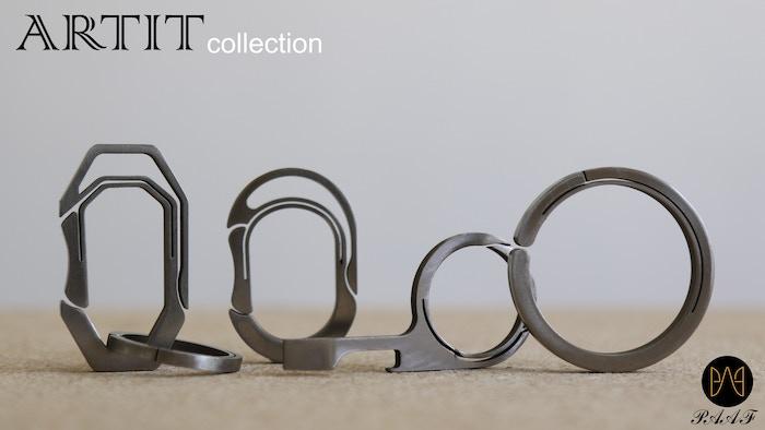 ARTIT is a minimalistic Titanium key ring, multi-purpose ring and key carabiner.