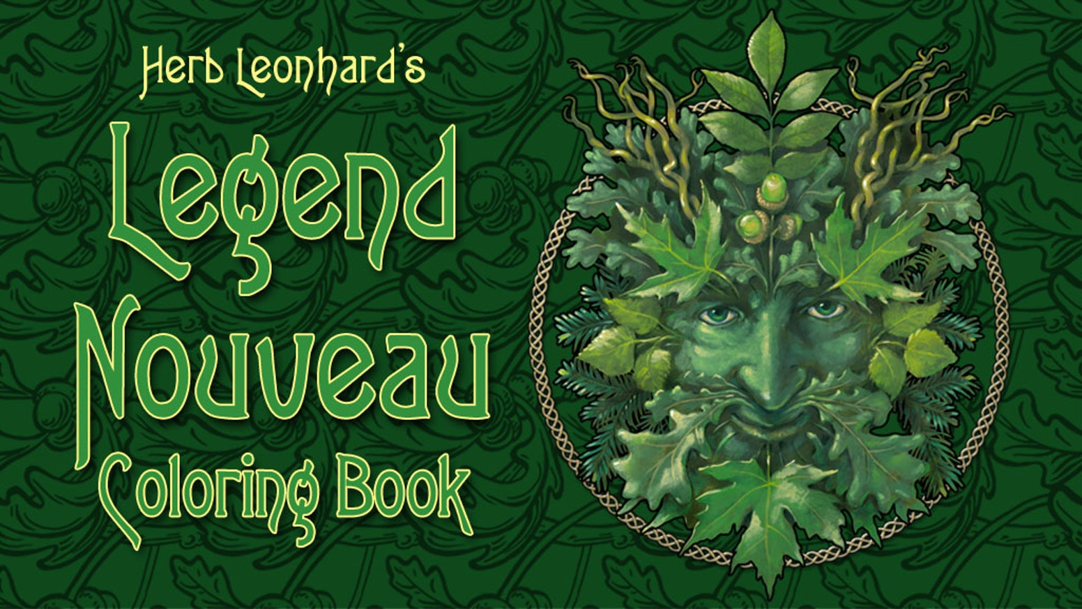 We have created another beautiful coloring book of legendary images in the art nouveau style. Now available for purchase.
