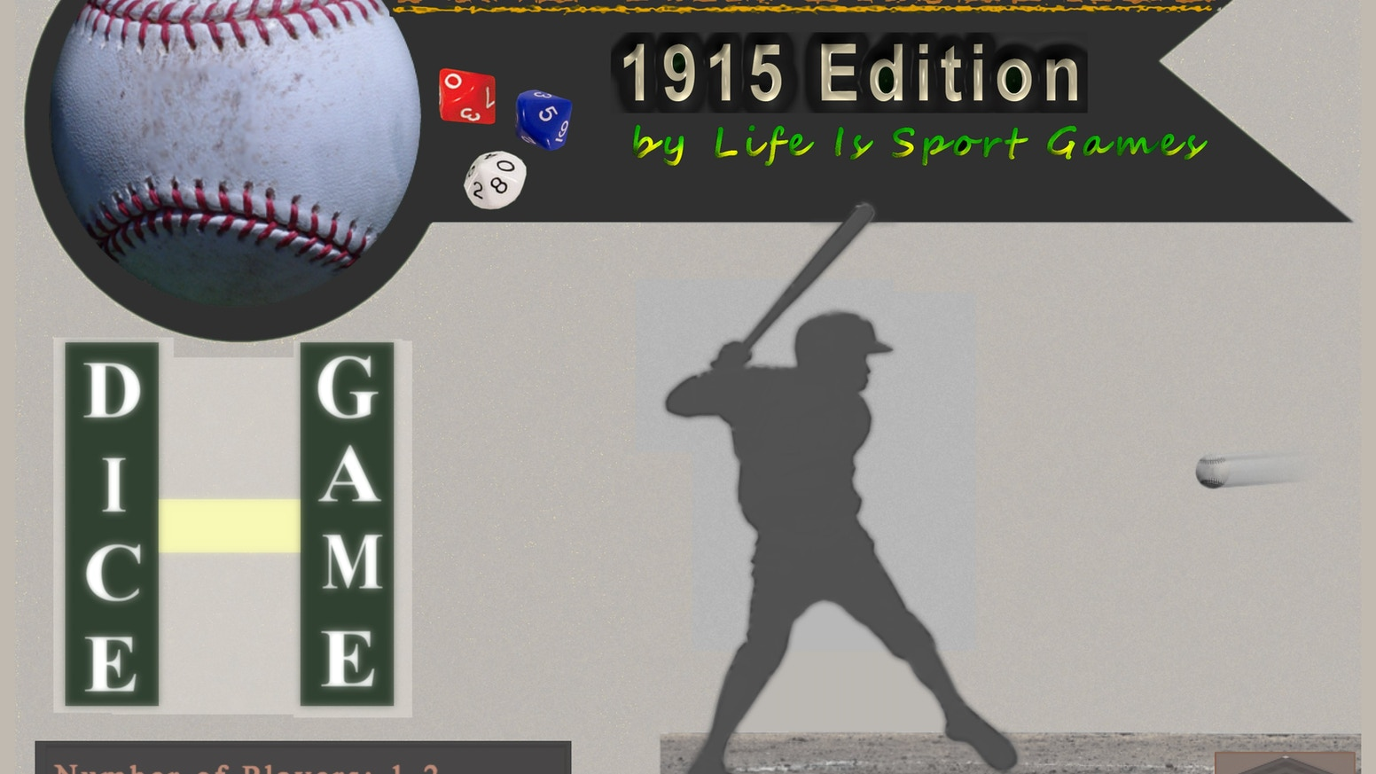 Pine Tar Baseball 1915 Dice Simulation Featuring Babe Ruth By Life