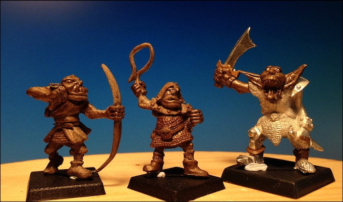 Orc Chariot Crew, Wingnut Orc Champion, Chariot driver & bowman.