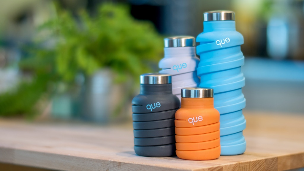 que Bottle: The Fashionable & Collapsible Travel Bottle project video thumbnail