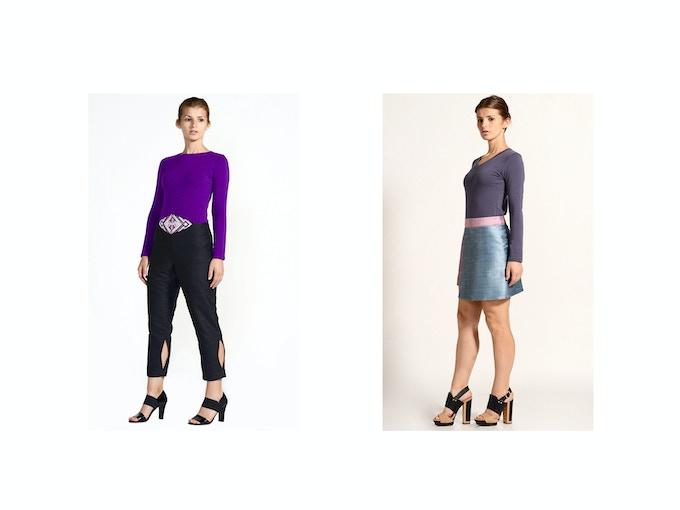 $75 Backer Level - Left: Lily Organic Cotton/Soy Crewneck T-Shirt; Right: Niki Organic Cotton/Soy V-Neck T-Shirt
