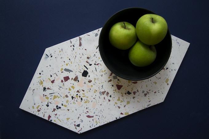 Hexagonal Platter in Rebbe Colourway