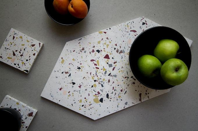 Hexagonal Platter and Coasters