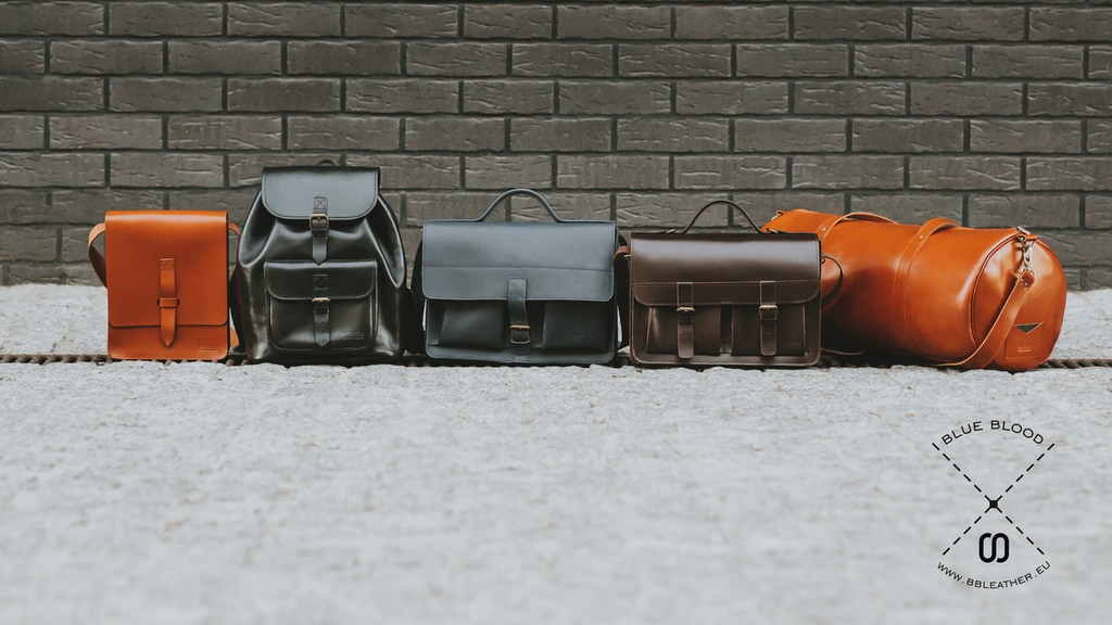 BlueBlood - Minimalist Leather Bags Redesigned project video thumbnail