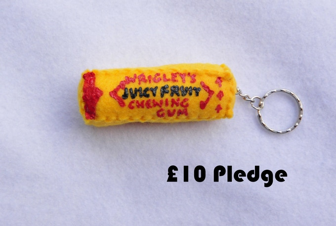 Juicy Fruit Chewing Gum Keyring