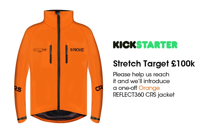 Day 10: Stretch Goal £100,000 - Orange REFLECT360 CRS will go in to production.