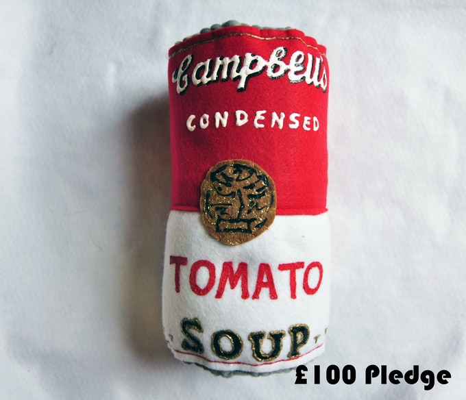 Giant Signed Campbell's Tomato Soup
