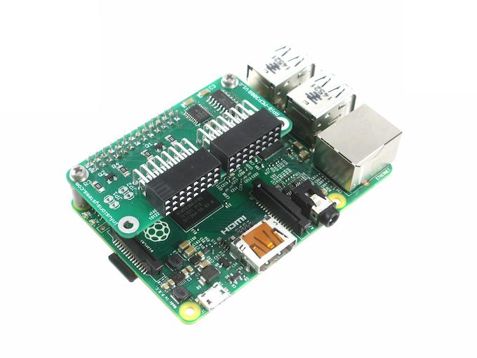 PiShield on a Raspberry Pi Model 2B