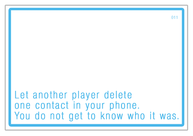 I had this card during play testing. I still don't know who's number I lost.