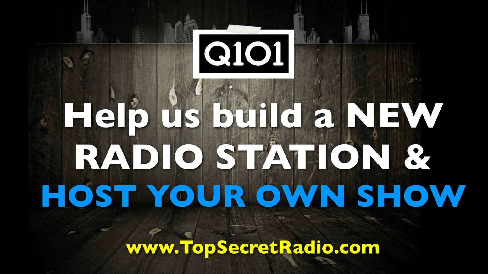 Q101 Chicago New Fan Generated Radio Station By Kickstarter Building A Is Brand From Scratch And We Want To You