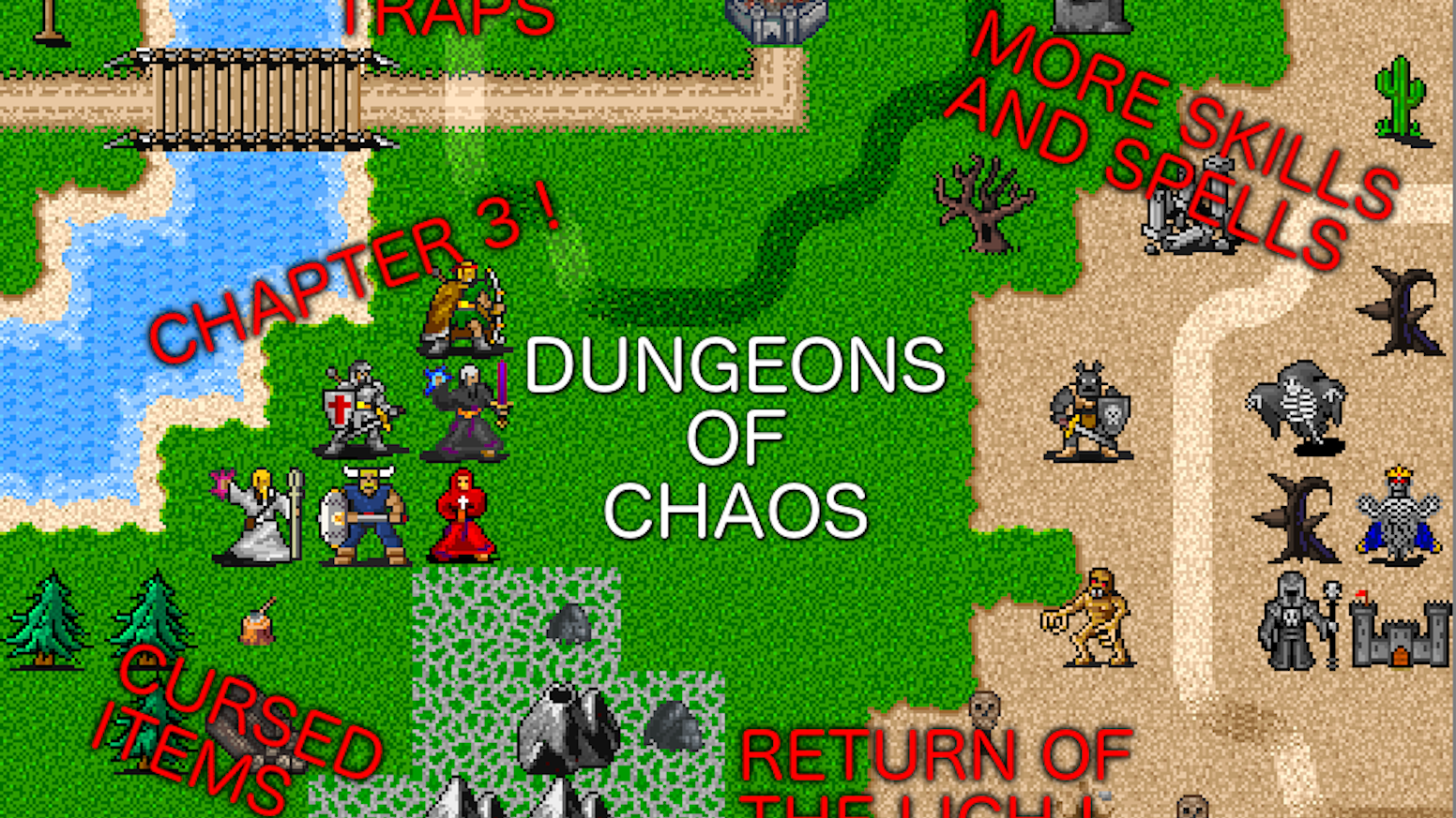 Dungeons of Chaos Expansion (retro RPG for Android and iOS