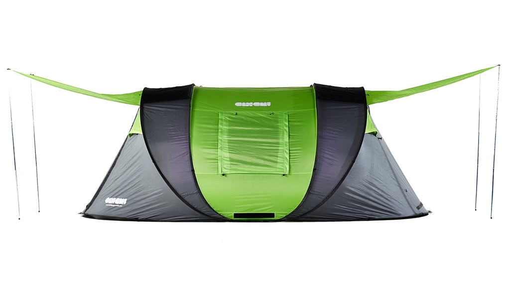 Cinch! ultimate pop-up tent. Solar power, LED, heat control project video thumbnail
