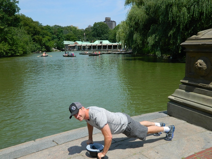 Mitch planking in Central Park, NY