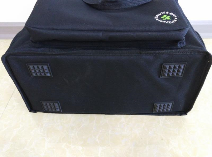 Rubber pedestals on the bottom of bag