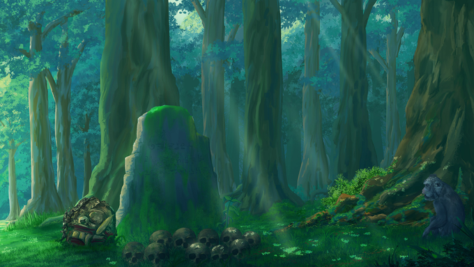 """One of backgrounds in """"Revival of Queen Leyak"""" Visual Novel"""