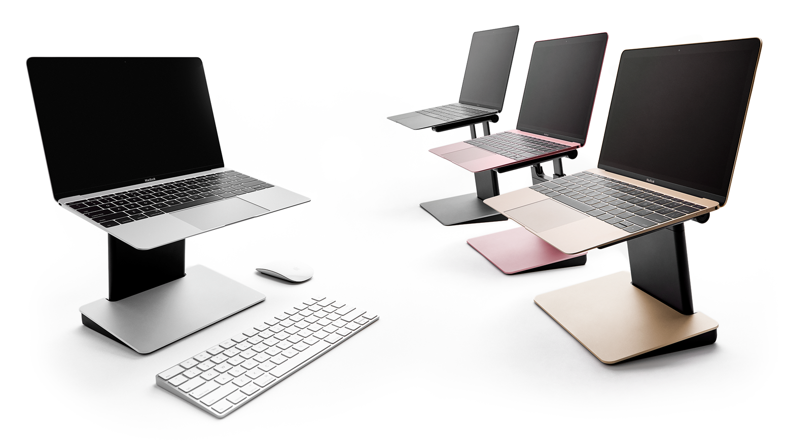Stop hunching. Get your posture back. Portable, compact, height-adjustable & beautifully designed, this laptop stand is like no other.