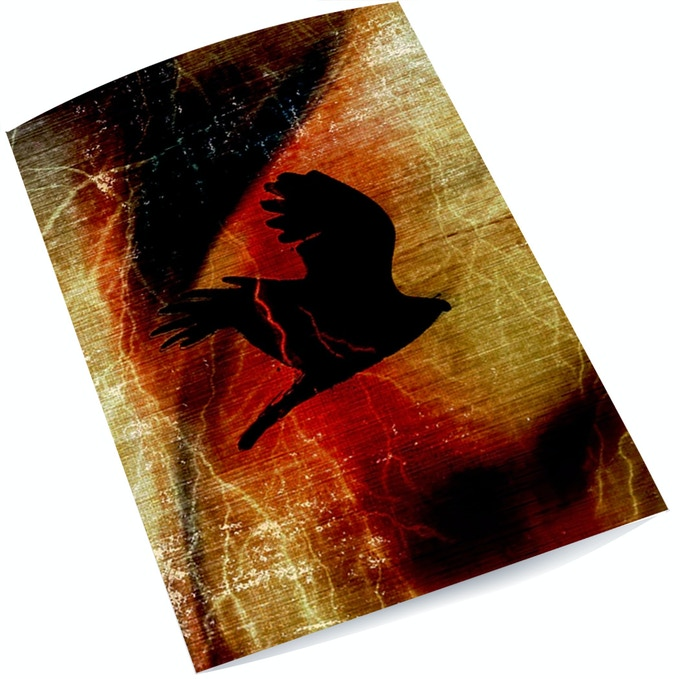 """Signed and numbered 6""""x10"""" art print """"Thunderbird"""" by award-winning author/artist Dr. Elizabeth LaPensee."""
