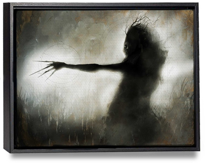 "Beautiful float-framed 16"" x 20"" canvas print of ""Windigo"" by menton3!"