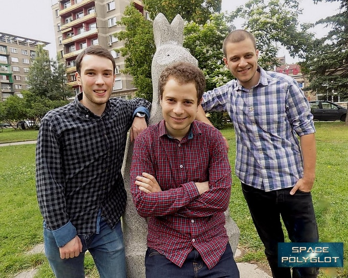 Space Polyglot core team - Philip, Nikolay and Alex