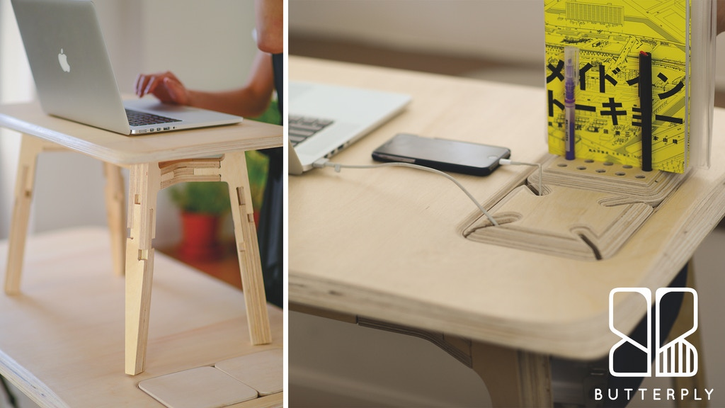Butterply Desk - Artfully Crafted Multi-functional Furniture project video thumbnail