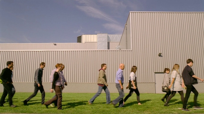 The impossible journey continues. Berlin crew visiting the factory...
