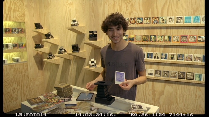Oskar at the Impossible Photokina Booth in 2014. At the age of 24 he became Managing Director of Impossible Camera in Berlin.