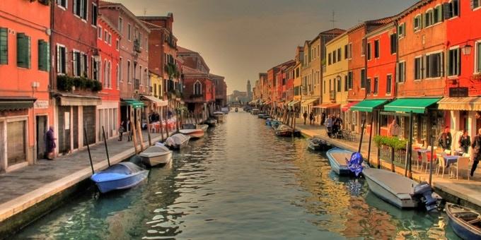 The beautiful island of Murano, Venice.