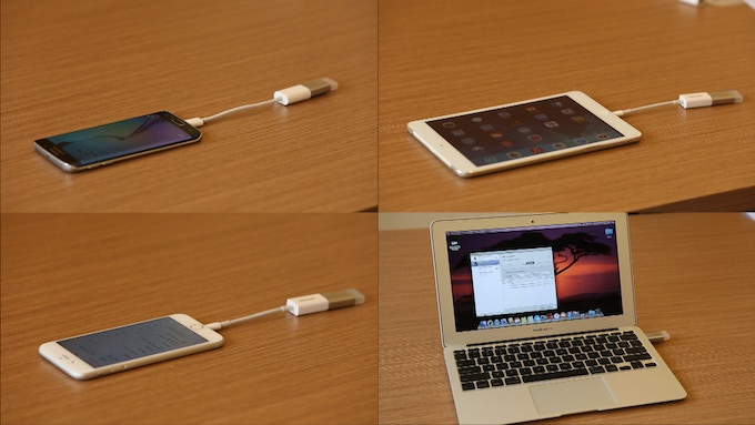 Plug in our USB dongle into any mobile devices