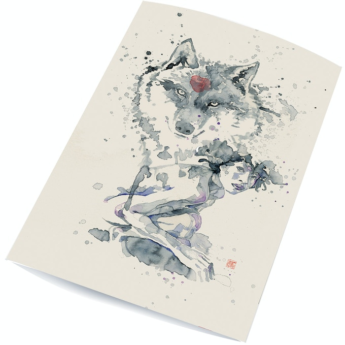 "Signed and numbered 6""x10"" Wolf Spirit art prints by award-winning artist David Mack!"