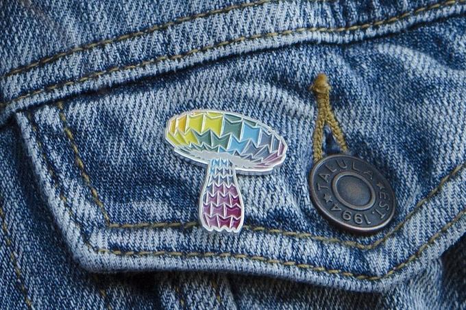 Enameled Metal Pin