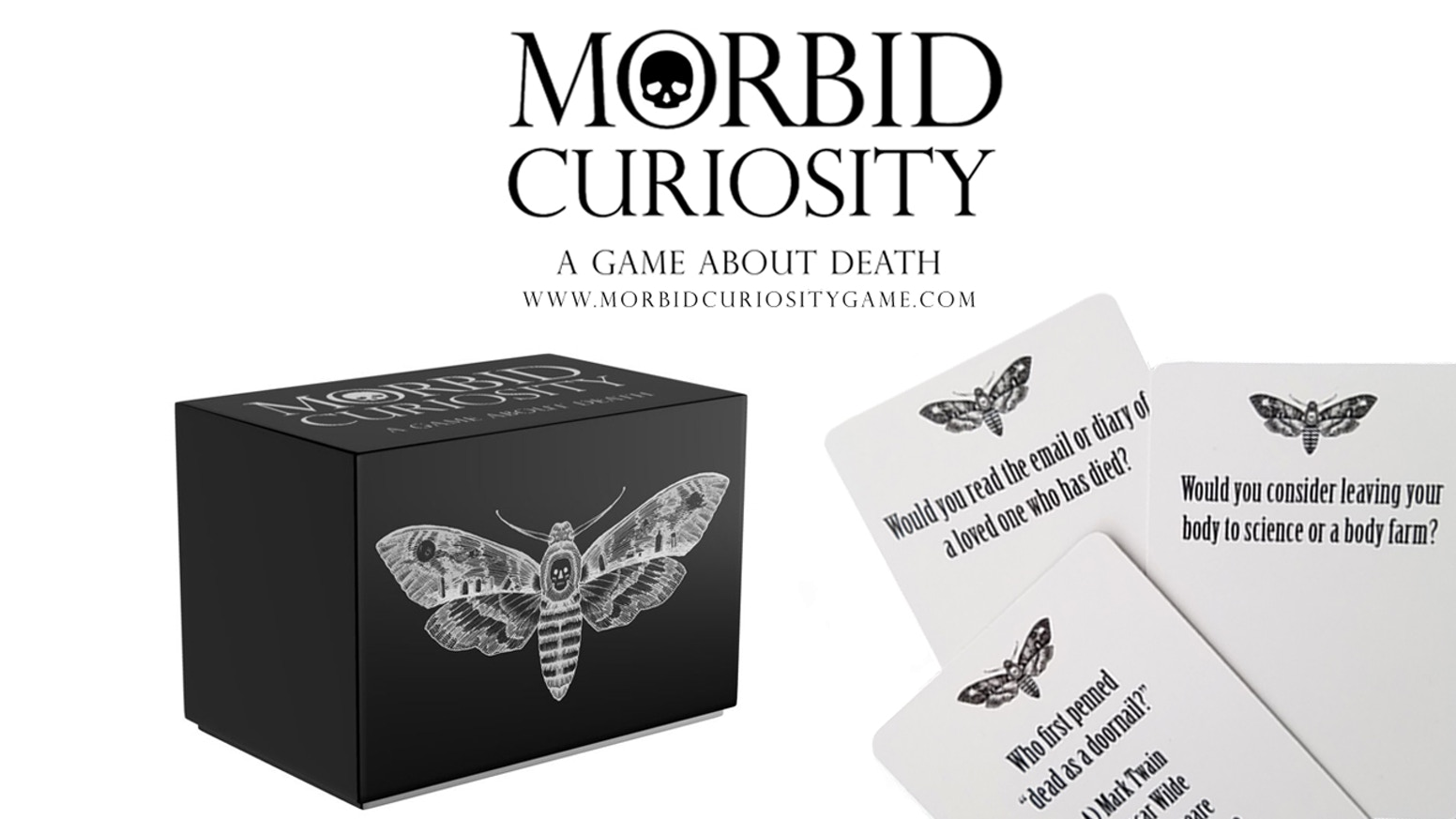 A card game about death. Part trivia, part conversation it offers an intriguing and delightfully morbid evening with friends.