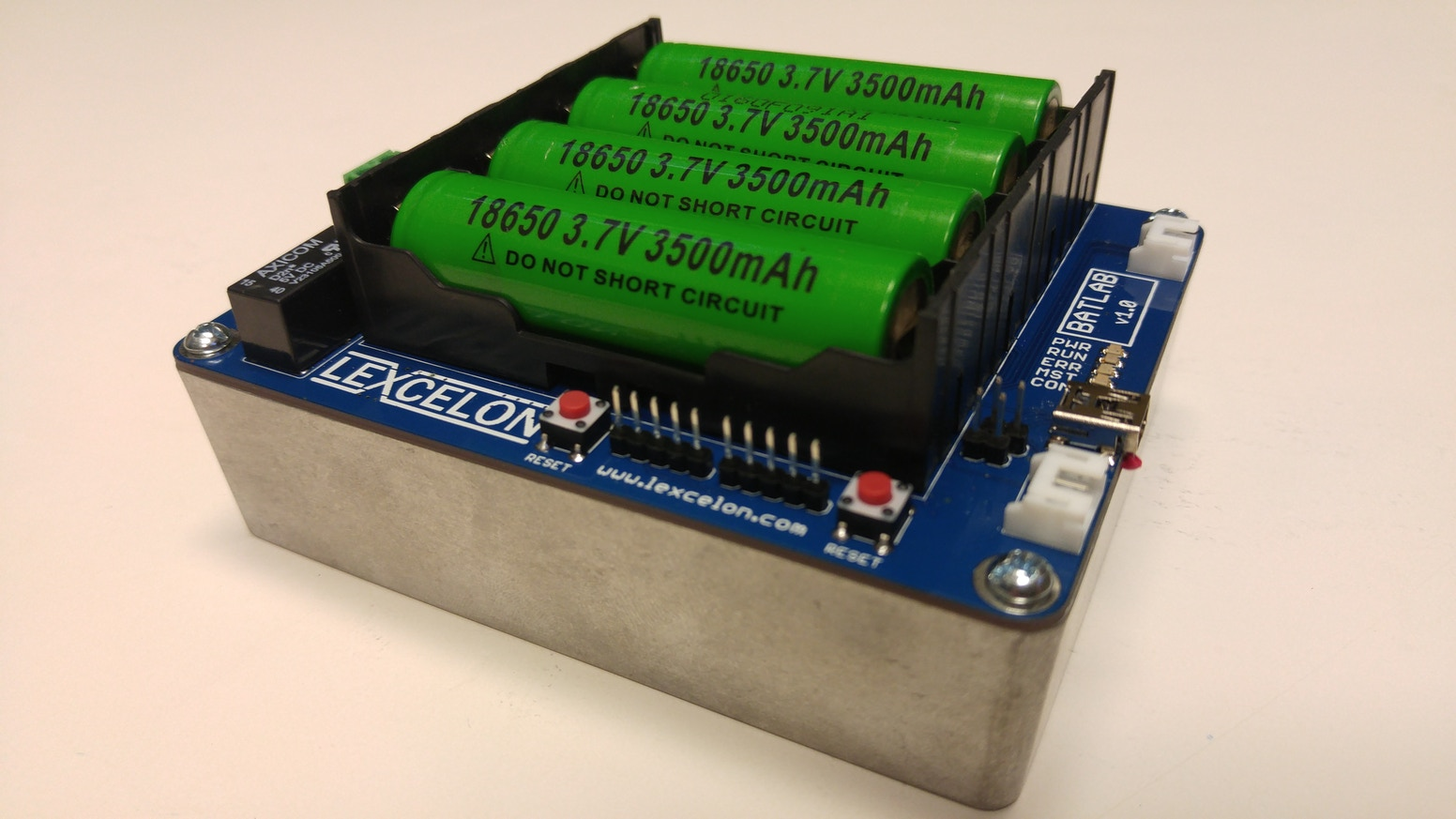 Batlab A Battery Testing System For Lithium Ion 18650 Cells By Recycled Circuit Board Small Notebook