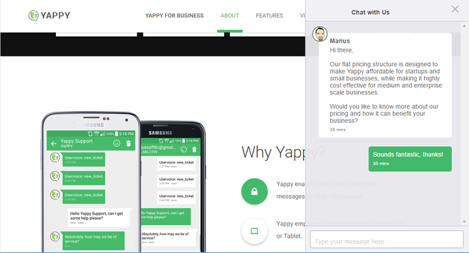 Help Yappy im grow - Android SMS from computer or tablet by