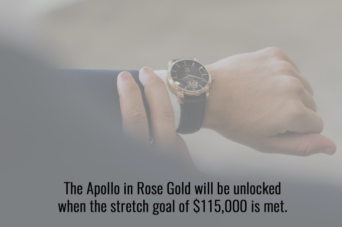 The Apollo in Black and Rose Gold