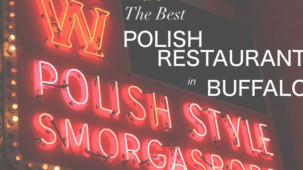 THE BEST POLISH RESTAURANT IN BUFFALO: Help Publish My Novel project video thumbnail