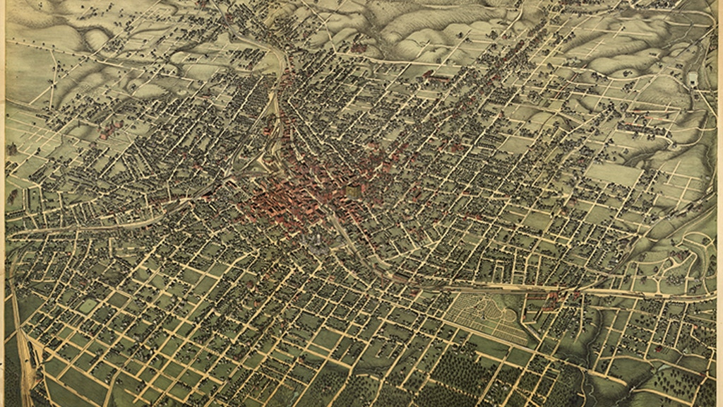 bird s eye view 1892 map of atlanta 1000 piece puzzle by chad