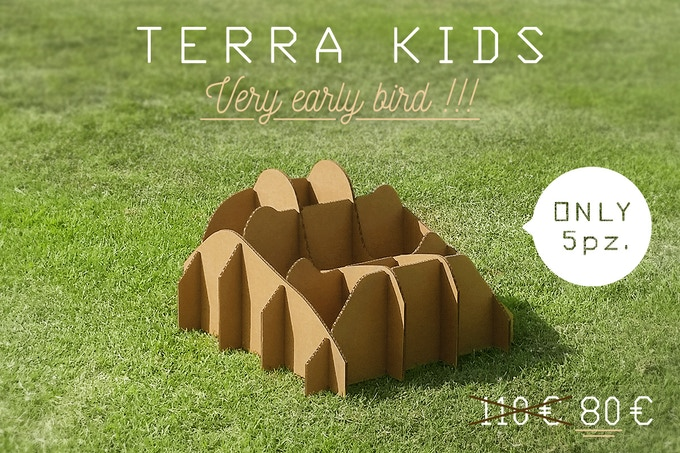 TERRA!KIDS scale 1:1 (dimensions in 23.7 x 23.7 x 14.8 / cm  60 x 60 x 37.5)