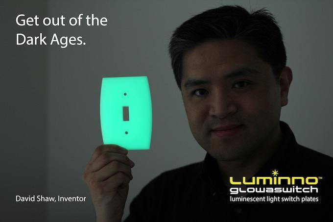 Co-inventor David Shaw with LUMINNO GlowaSwitch Toggle