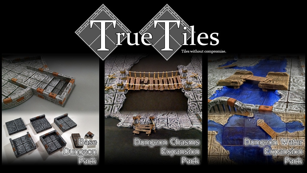TrueTiles Dungeon Expansions Terrain - Chasms and Water project video thumbnail