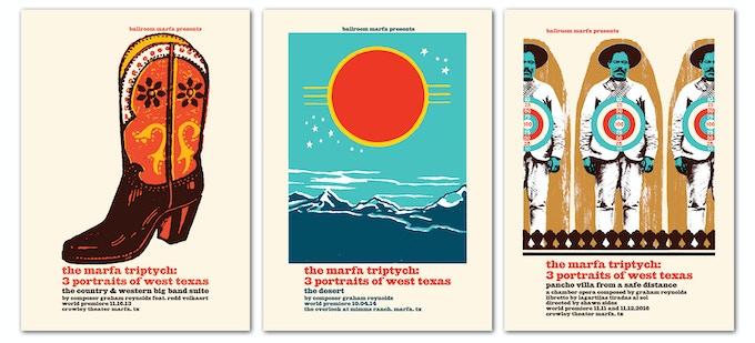 Carteles por El Tríptico de Marfa Diseñado por Noel Waggener