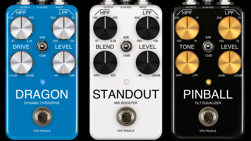 VFE Pedals new guitar pedal lineup + educational kit by