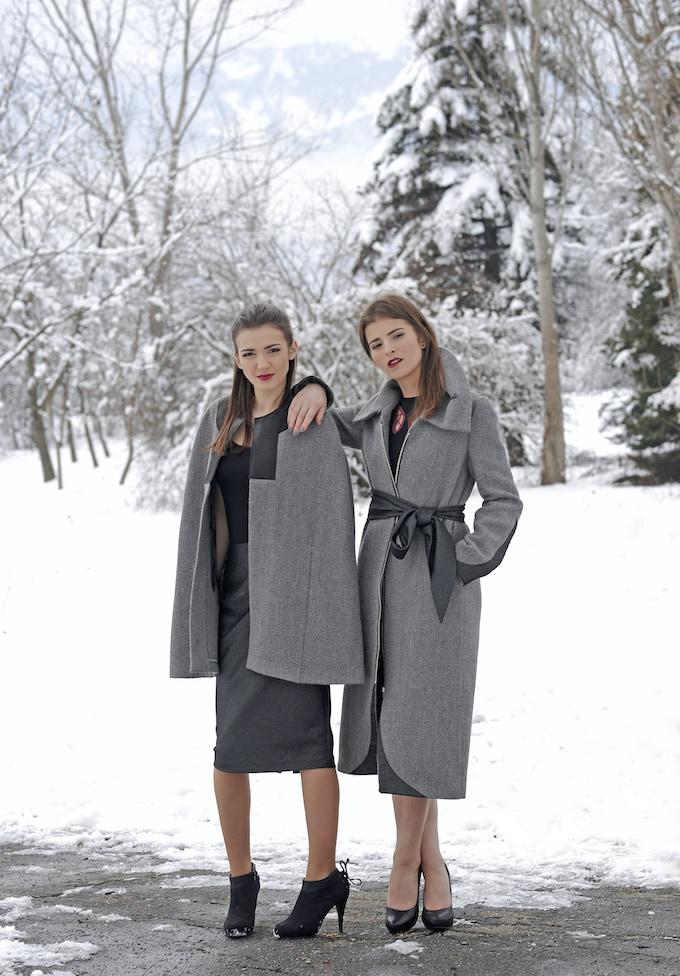 Mirela Cape + Tatiana Coat in Alpaca Wool