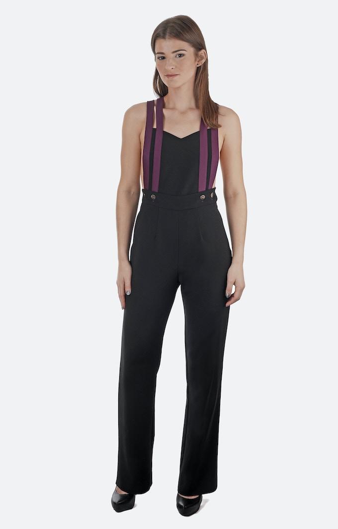 Natalia Jumpsuit: Designer Deadstock + Organic Wool Fabric